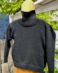 Buddie Sweaters Mens black wool Turtle neck pullover