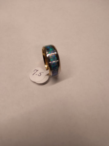 Grumpy Grampa's Pacific Blue Opal Ring