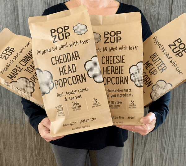 Popzup Popcorn- 4 Family Size Bags