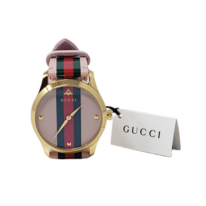 Gucci Web Bee Classic Leather Watch Brand New.