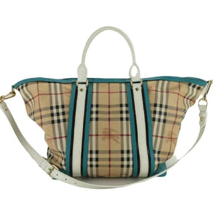BURBERRY CHECK PVC LEATHER 2WAY SHOULDER TOTE BAG - Luxury Cheaper
