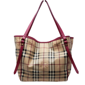 Burberry Classic Canvas Tote Shoulder Bag - Luxury Cheaper