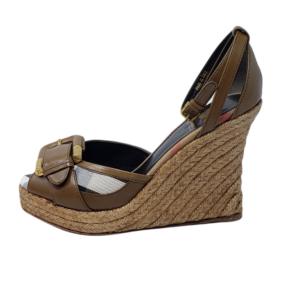 Burberry Classic Wedge Sandal - Luxury Cheaper