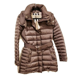 Burberry Mink Puffer Army Green Coat - Luxury Cheaper