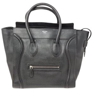 Celine Luggage Micro Black Leather Hand Bag - Luxury Cheaper