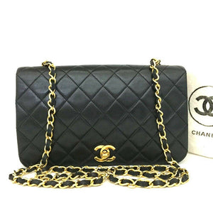 CHANEL 23 Full Flap Vintage 24k Gold Lambskin Bag - Luxury Cheaper