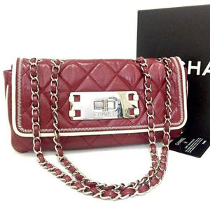 CHANEL 2.55 Quilted Matelasse Lambskin Shoulder Bag - Luxury Cheaper