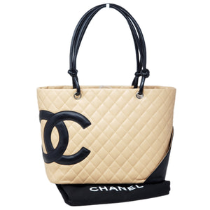CHANEL CAMBON LINE LEATHER TOTE BAG - Luxury Cheaper