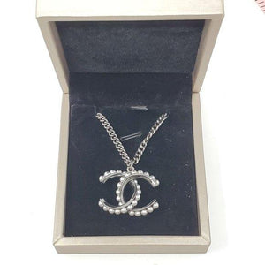 Chanel CC Gray Metal Necklace - Luxury Cheaper