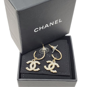 CHANEL Drop Earrings w/ Pearl - Luxury Cheaper