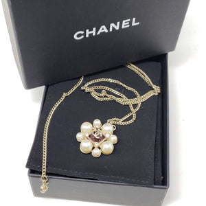 Chanel Necklace with Pearl & Stone.