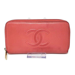 Chanel Pink Caviar Zippy Wallet.
