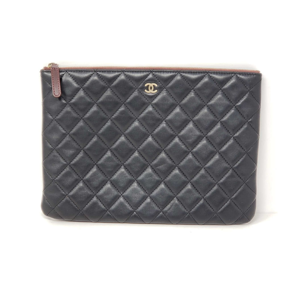 CHANEL Quilted Lambskin Clutch /Cosmetic Bag - Luxury Cheaper
