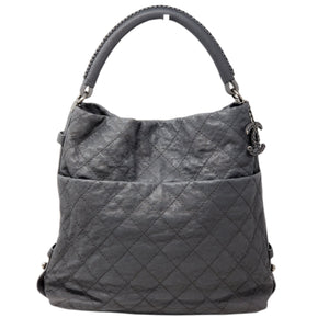 CHANEL Quilted Matelasse CC Caviar Skin Hobo Bag.
