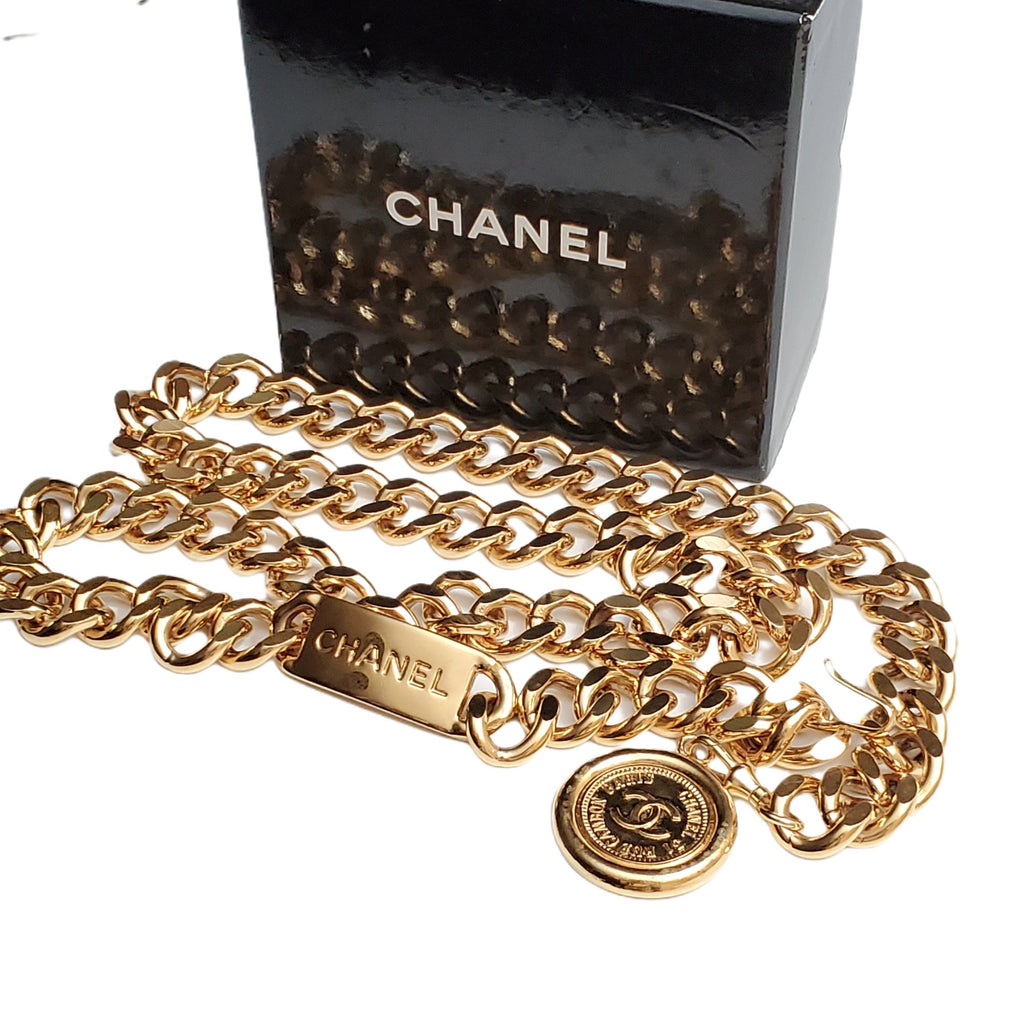 CHANEL VINTAGE CC MEDALLION CHAIN BELT - Luxury Cheaper