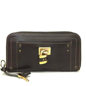 Chloe Paddington Leather Zippy Wallet.