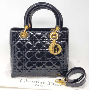 CHRISTIAN DIOR LADY DIOR 2WAY SHOULDER HAND BAG - Luxury Cheaper
