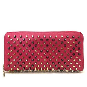 Christian Louboutin Spike Studs Zip Wallet.