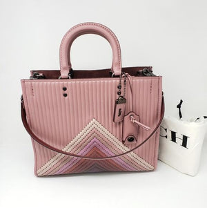 Coach Dusty Rose Rogue Satchel Bag #1399.