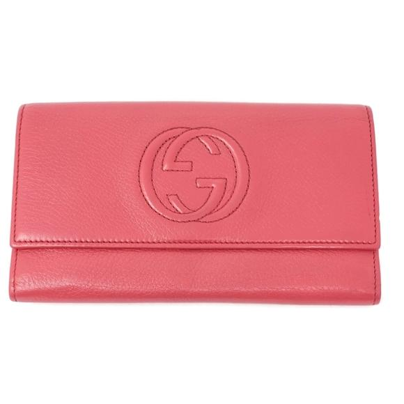 Gucci Bifold Leather GG Wallet.