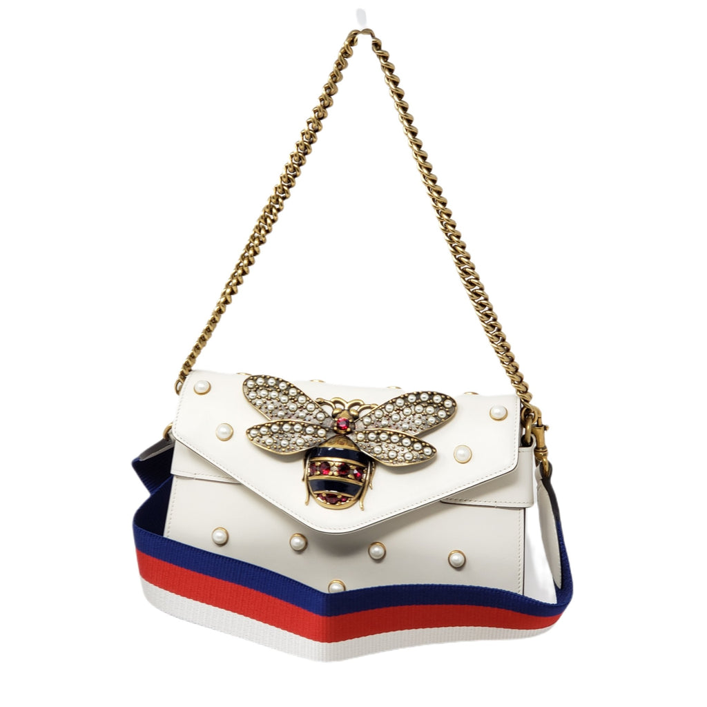 Gucci Broadway Pearl Clutch & Shoulder Bag.