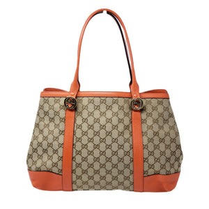 Gucci Canvas Leather Shoulder Bag - Luxury Cheaper