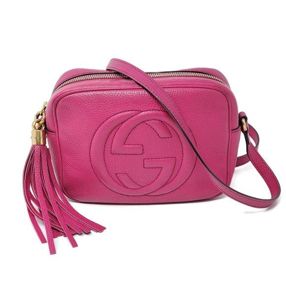 Gucci Disco Camera Fuchsia Crossbody Bag.