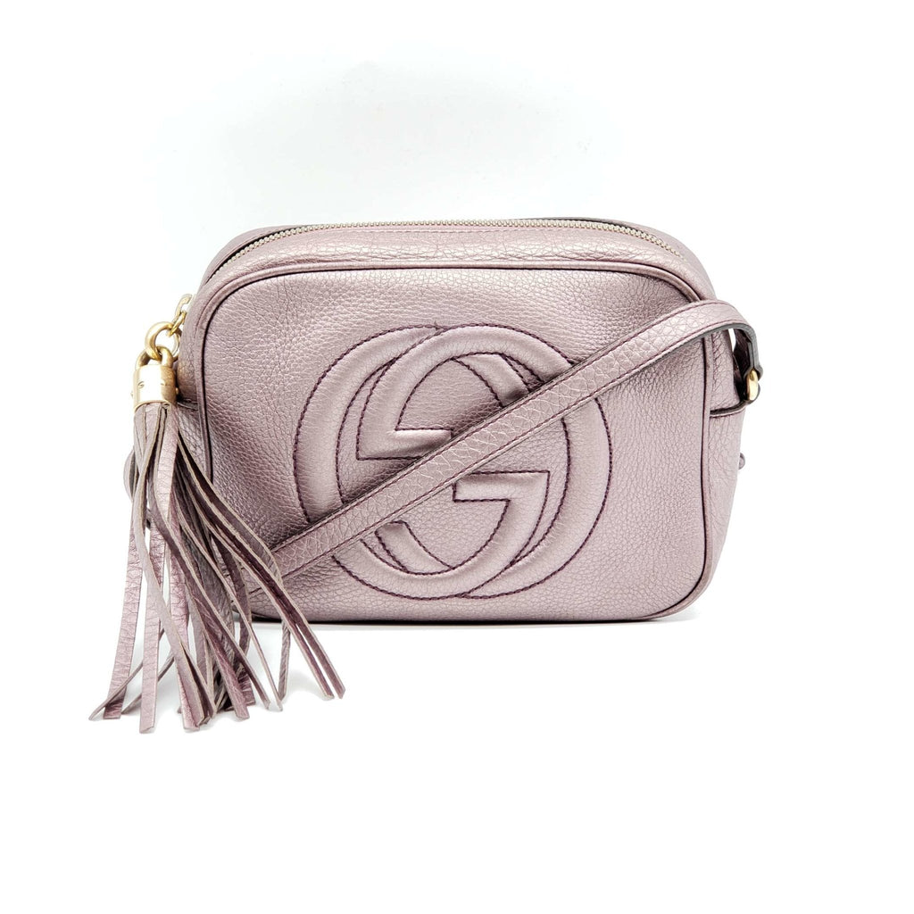 Gucci Disco Camera Metallic Leather Crossbody Bag - Luxury Cheaper