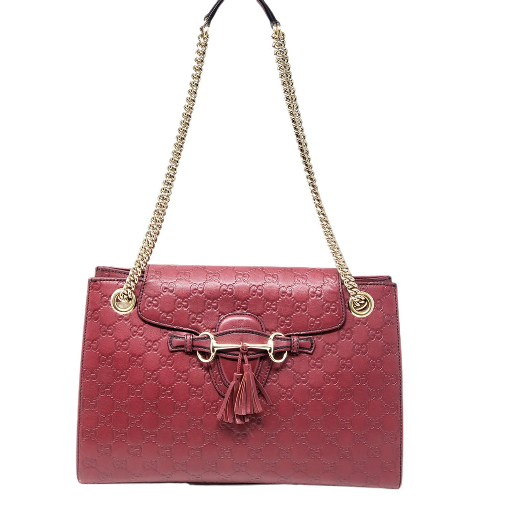Gucci Emily Guccissima Large Shoulder Bag - Luxury Cheaper