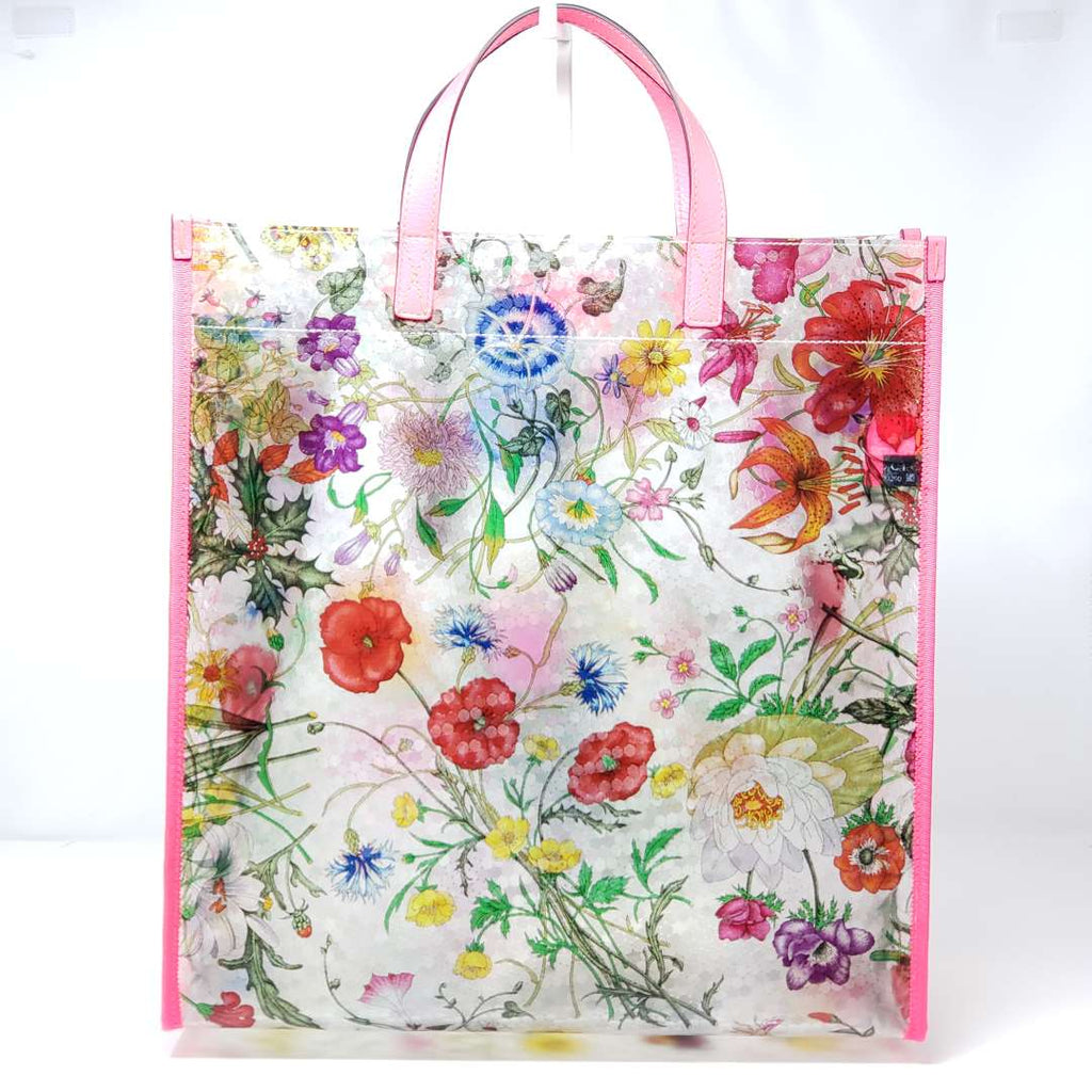 Gucci Flora Print Vinyl Large Tote Bag NWT - Luxury Cheaper