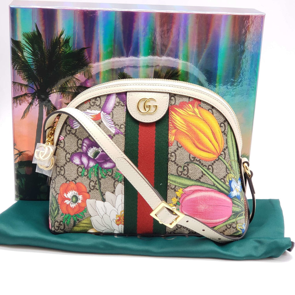 Gucci GG Ophidia Flora Shoulder Bag Brand New - Luxury Cheaper