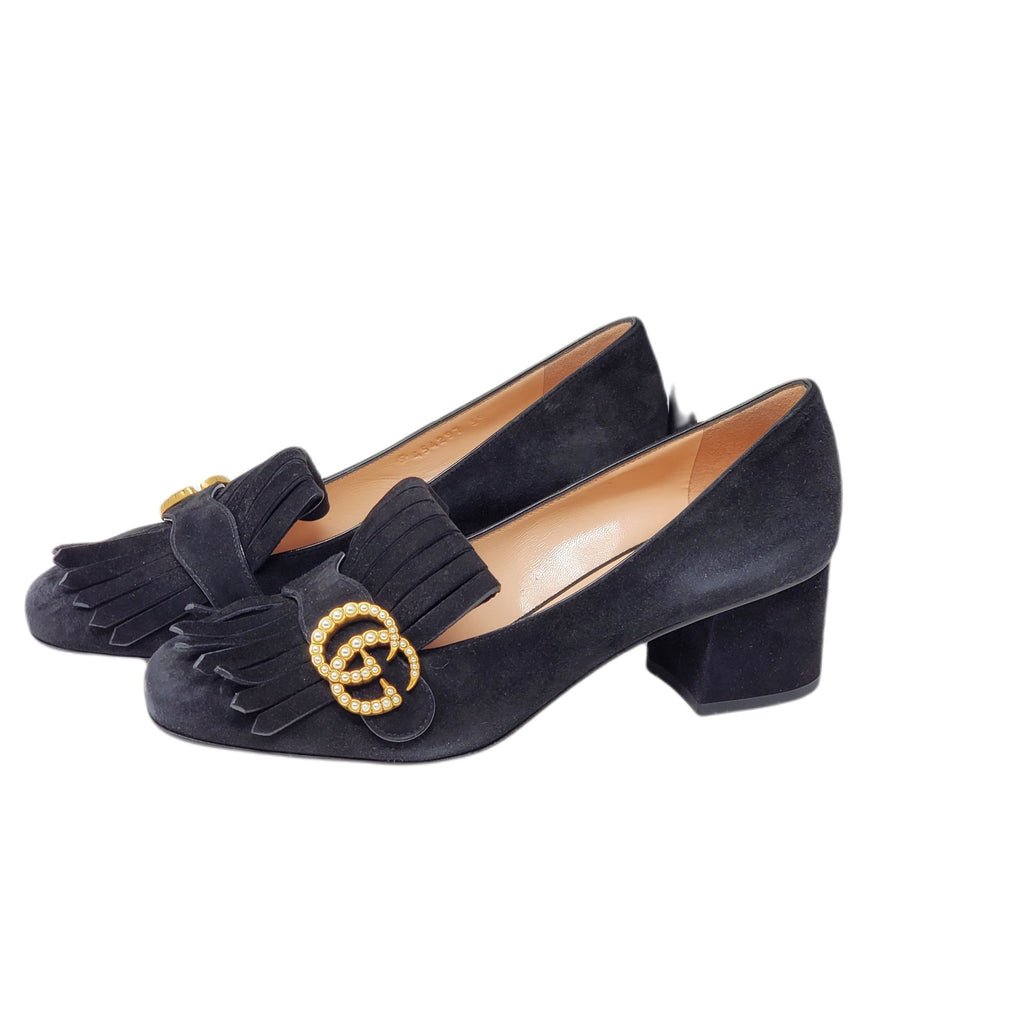 Gucci GG Suede Black Pump Shoes Brand New.