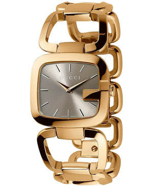 Gucci GG SWISS Quartz Gold Tone Watch Bracelet.
