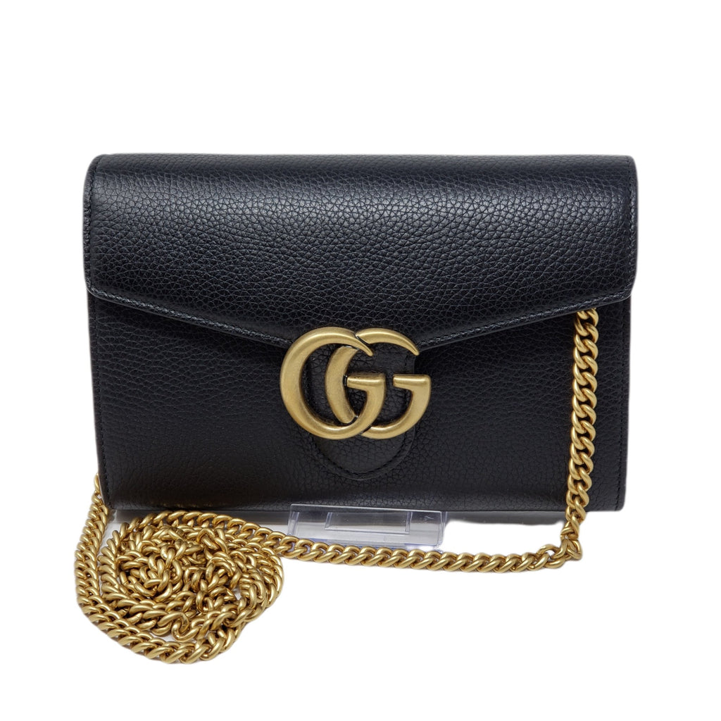 Gucci GG Wallet onChain Black Crossbody/Clutch Bag.