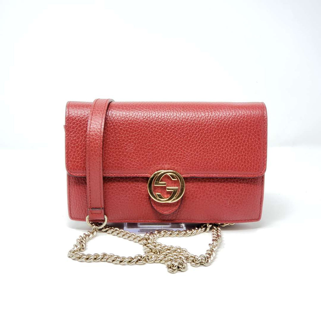 Gucci Interlocking Wallet on Chain Crossbody Bag - Luxury Cheaper