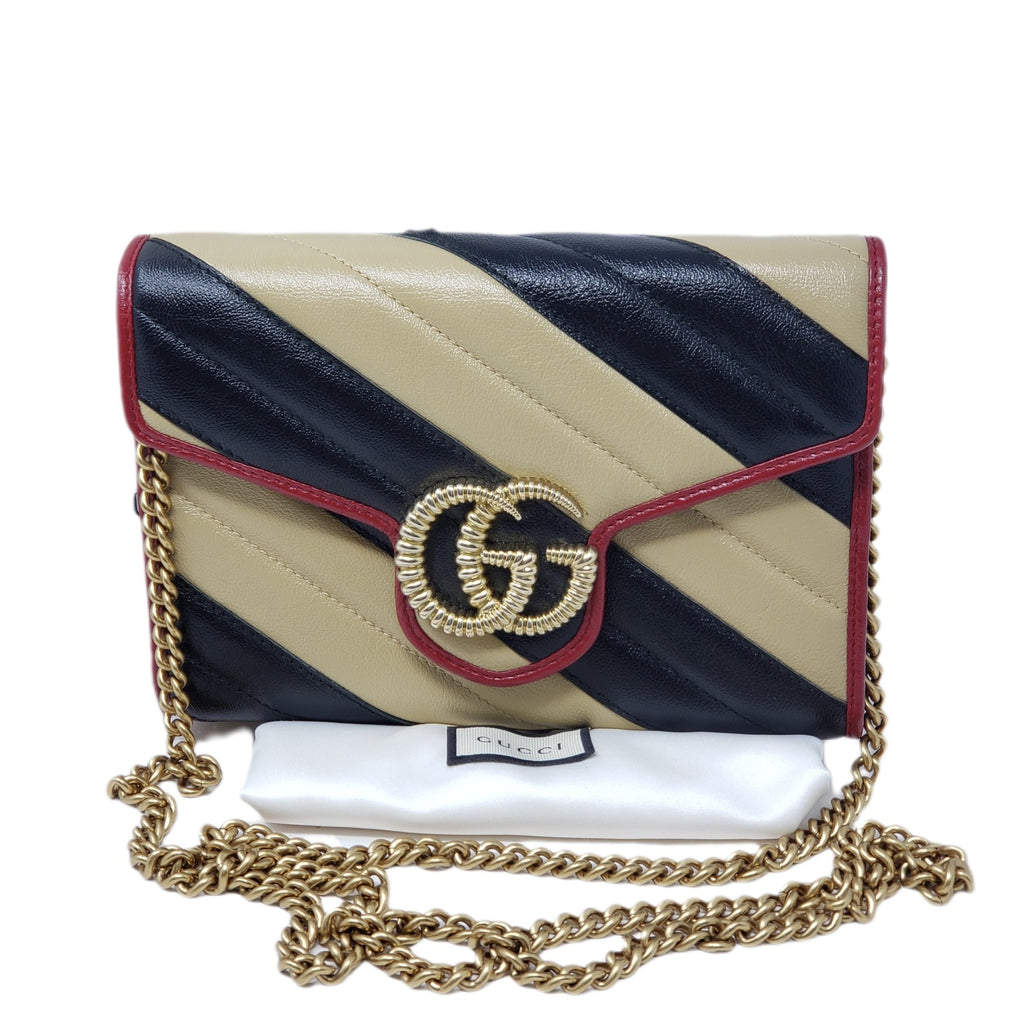 Gucci Marmont Bicolor Wallet onChain Crossbody Bag - Luxury Cheaper