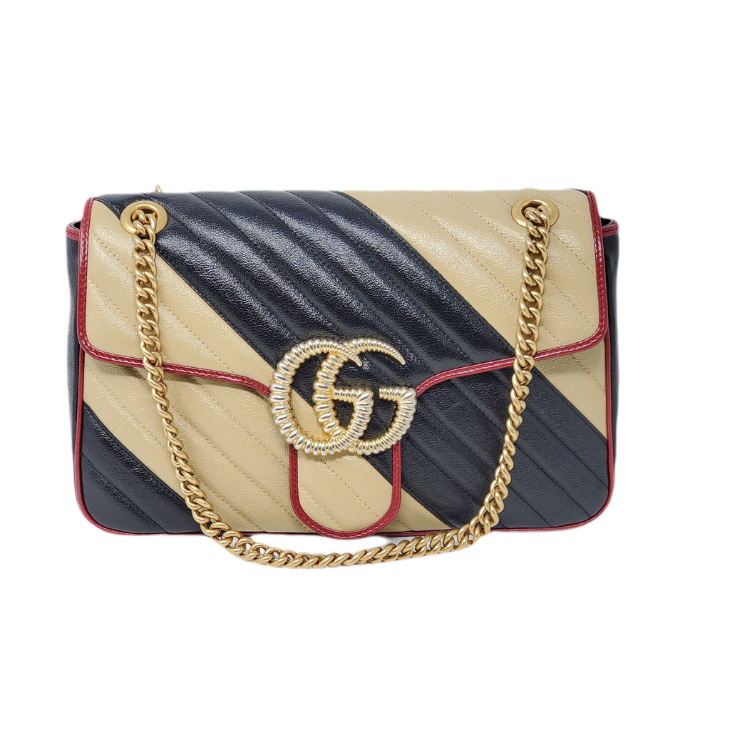 Gucci Medium Bicolor Marmont Crossbody Bag NWOT.