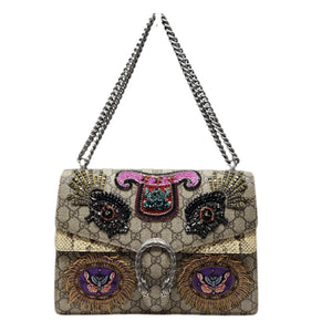 Gucci Medium Dionysus Python Embroidered New.