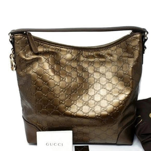 Gucci Metallic Guccissima Hobo Bag New.