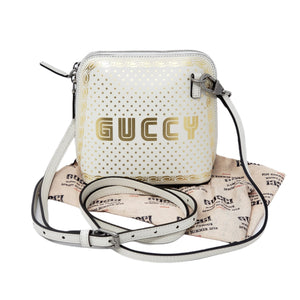 Gucci Mini Stelle Guccy Mystic White Crossbody Bag.