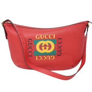 Gucci Red Half Moon Hobo Leather Shoulder Bag - Luxury Cheaper
