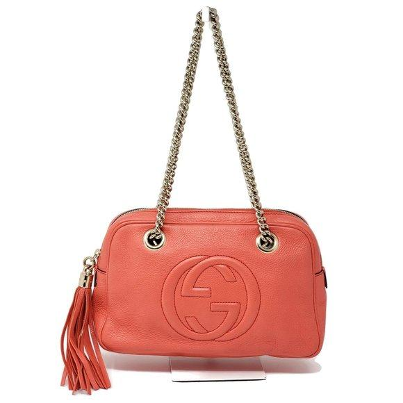 Gucci Soho Calfskin Shoulder Bag.