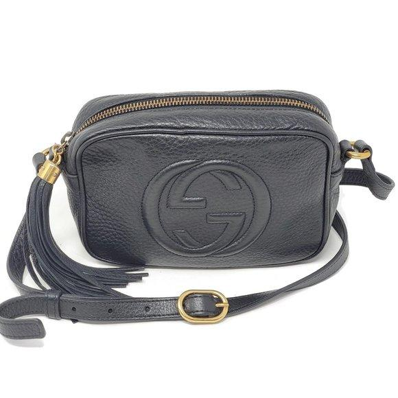 Gucci Soho Disco Mini Camera Black Crossbody Bag - Luxury Cheaper