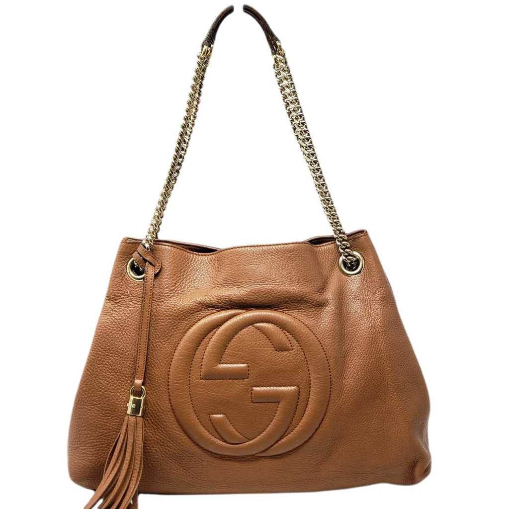 Gucci Soho Medium on Chain Leather Shoulder Bag - Luxury Cheaper