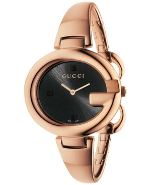 Gucci Stainless Steel Bangle Rose Gold Watch.