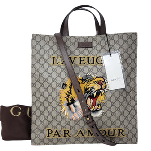 GUCCI Supreme Tiger Patch/laptop/Office/Tote Bag - Luxury Cheaper