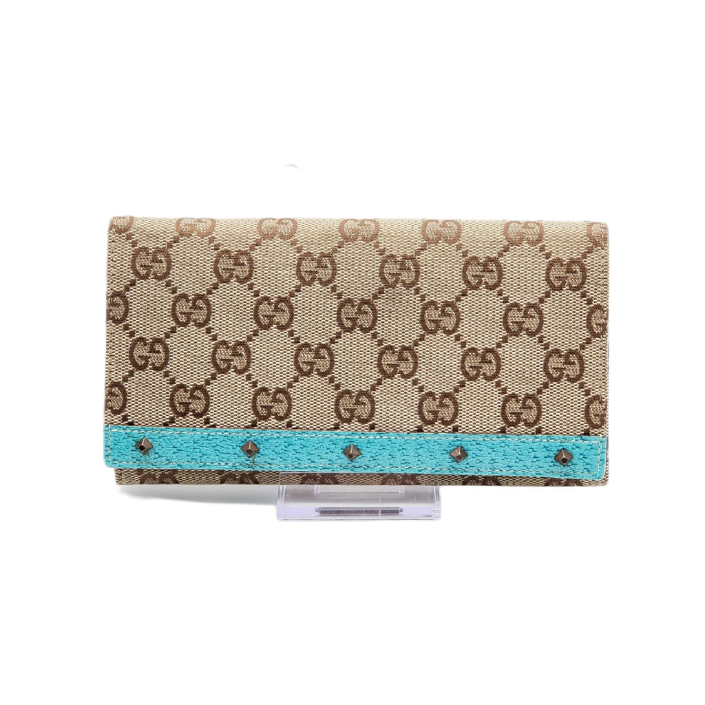 Gucci Swanky Browns Canvas Long Wallet - Luxury Cheaper