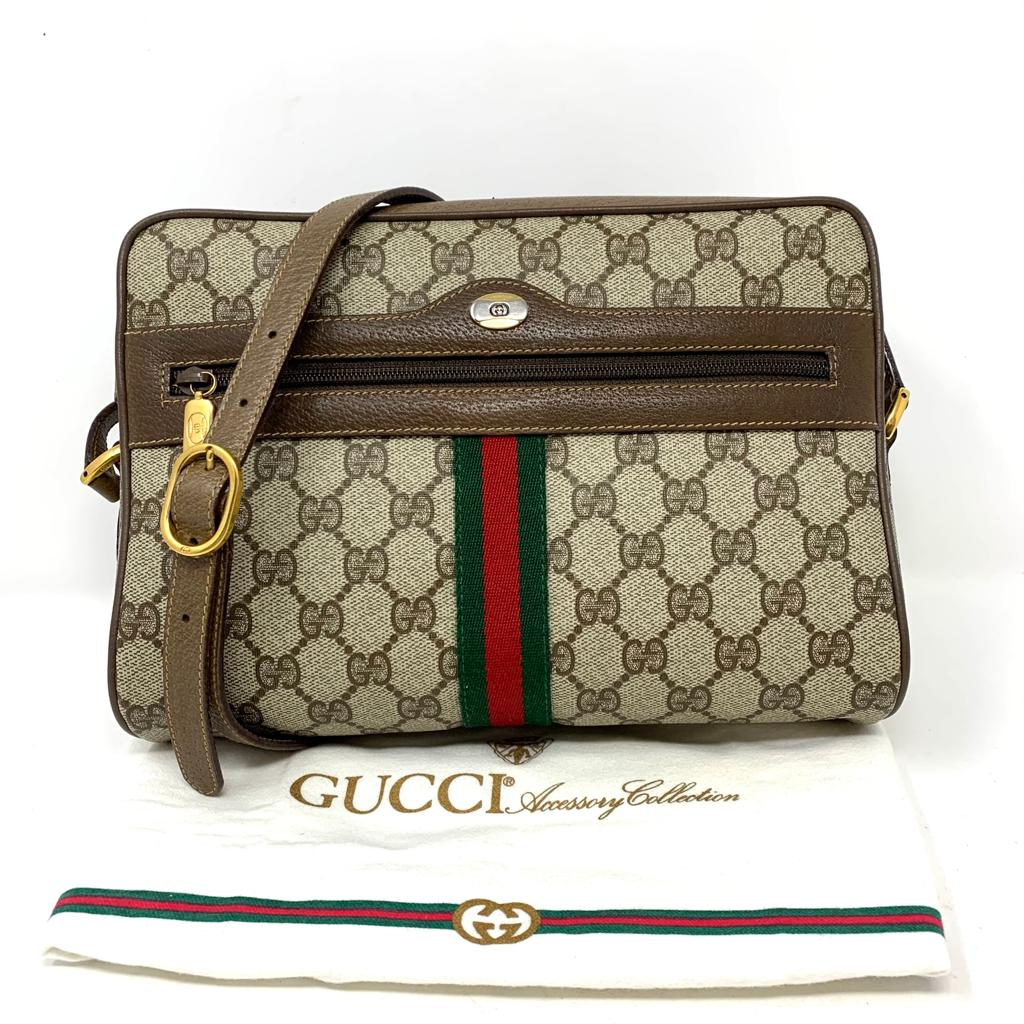 GUCCI VINTAGE GG SHERRY CROSSBODY BAG - Luxury Cheaper