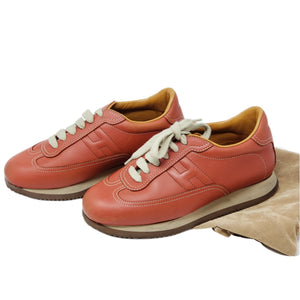 Hermes Leather Sneaker Size 6.