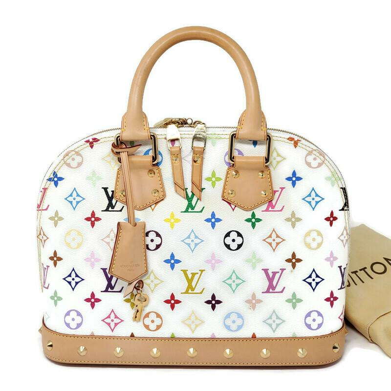 Louis Vuitton Alma PM Multicolor Takashi Murakami Hand Bag.
